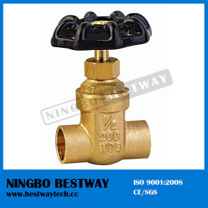 Hot Sale Brass Solid Gate Valve Supplier (BW-G08) pictures & photos