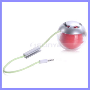 Super Bass 2 in 1 M1+1 Bluetooth Ball Audio Speakers LED Light 3D Speaker with Mic pictures & photos