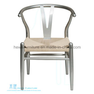 Modern Chinese Style Metal Dining Chair with Straw Cushion (DW-3501C ...