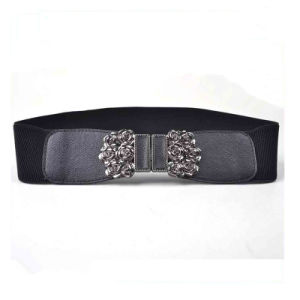 New Trendy Ladies Elastic Wide PU Waistband Belt pictures & photos