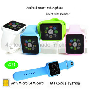 Colorful Multilanguage Smart Watch Phone with SIM Card Slot G11 pictures & photos
