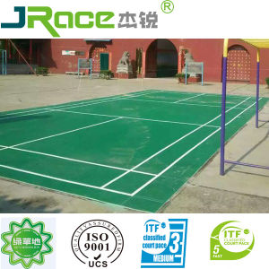 High Cushion Outdoor Badminton Court Spu Court pictures & photos