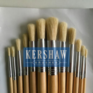Artist Brush (ARTIST PAINTING BRUSH ROUND HEAD SET NO. 582#, blanch white bristle and wooden handle) pictures & photos
