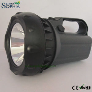 Rechargeable 5W LED Rotating Search Light with Swivel Stand Lasts 16-32 Hours
