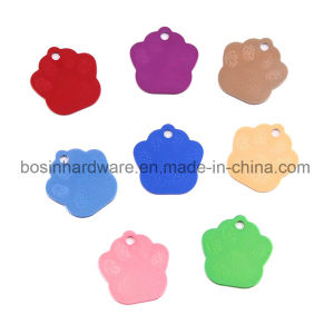 Aluminum Pet Paw Shaped Dog Tag pictures & photos