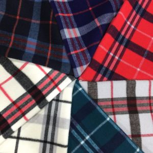 Twill Check Wool Fabric Overcoat