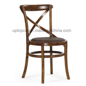 Wholesales X Back Wooden Armless Dining Cafe Chair (SP-EC142) pictures & photos