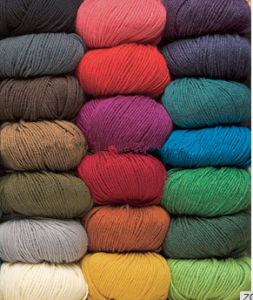 Fancy Mrino Wool and Silk Blended Yarn on Sale