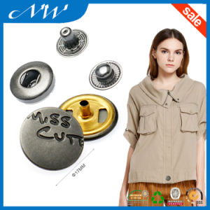 Fashion Metal Spring 4parts Engarved Logo Custom Snap Button