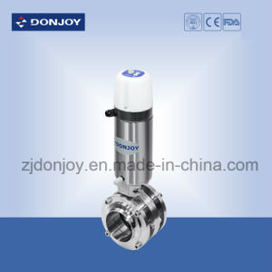 Welded End Pneumatic Butterfly Valve with C-Top pictures & photos