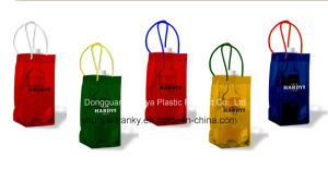 PVC Ice Bag Handle Bag PVC Wine Bag pictures & photos
