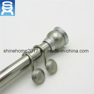 Wall-Mounted Iron Chrome Plated Bathroom Fitting Shower Curtain Rod/Curtain Accessory Shower Curtain Rod pictures & photos