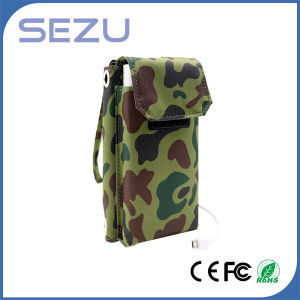 Best Quality Long Working Time 5W Outdoor Portable Solar Energy Charger Folding Bag (Camouflage Green)