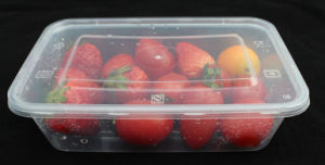 Disposable Kitchenware Take Away Plastic Microwave Food/Deli Container/ Storage/Box with Cover pictures & photos
