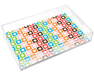 Customize Clear Color Home Acrylic Tray pictures & photos