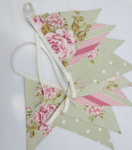 Handmade Custom Bunting Double Sided Lovely Fabric Bunting and Flags