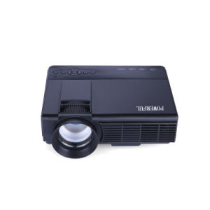 LED Mini Projector with Wxga Resolution 800*480 Support 720p, 1080P