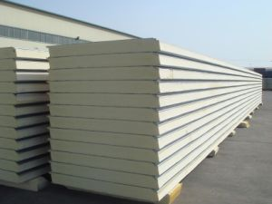 Polyurethane Sandwich Wall Panel for Prefab Home pictures & photos