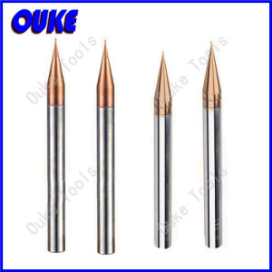 CNC HRC60 Carbide 2 Flutes Micro End Mill Tool