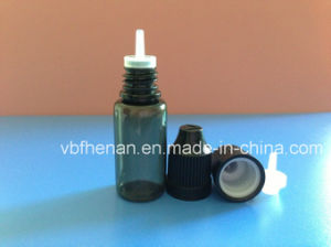 10ml Pet Black Plastic Bottle with Childproof Cap