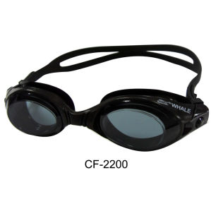 2015 Professional Black Swimming Goggles with PC Lens and Silicone Skirt (CF-2200) pictures & photos