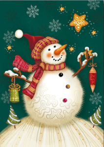 Snowman Christmas Greeting Cards (CB6-006)