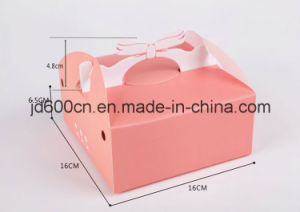 Die Cut Art Paper OEM Pink Color Birthday Cake Box pictures & photos