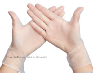 Advanced Quality Smlxl Disposable Powdered Vinyl Gloves From China Victor pictures & photos