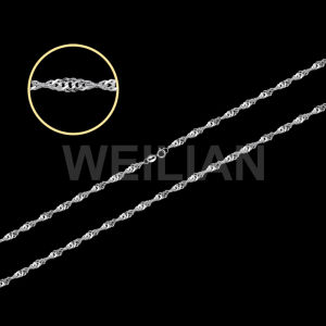 925 Sterling Silver Singapore Necklace Chain pictures & photos