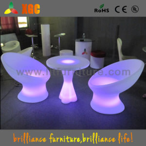 Light Up Bar Table With Chairs/ LED Furniture