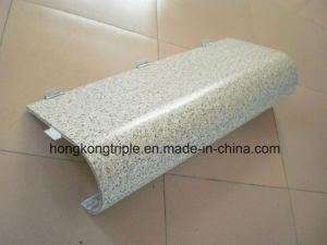 Curved Aluminum Stonegrain Transfer Composite Honeycomb Panel