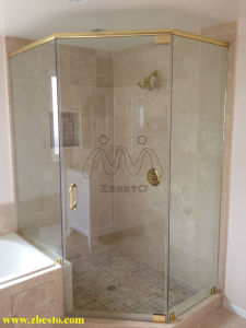 Wholesale Frameless Clear Tempered Curtain Wall Glass Door for Shower