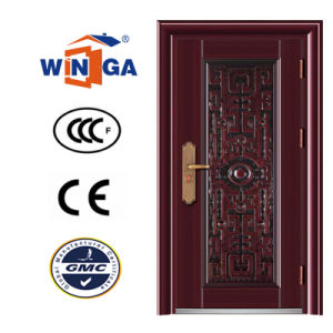 Decorative Frame 2.0mm Good Quality Security Steel Doors (W-S-22) pictures & photos