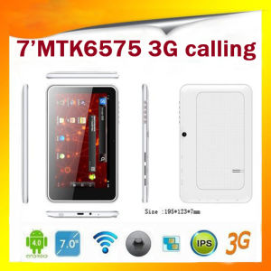 7inch Mtk6575 Full Function Tablet dual core 1G8G Dual SIM Card Slot +3G Smart Phone+ Capacitive Screen+ Android 4.0 +Dual Camera+GPS+Blooth (MID-M75)