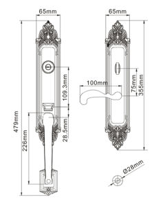 Classic Style Brass Villa Entracne Door Lock pictures & photos