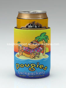 Insulated Sublimation Printing Neoprene Can Cooler with Glued Bottom