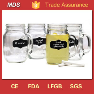 High Quality Lidded Chalkboard Single Mason Jar Decor with Handles pictures & photos