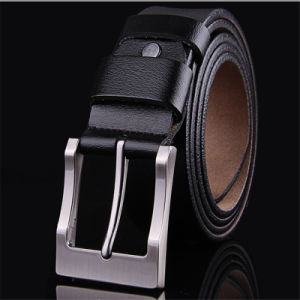 Mens Fashion Belts 100% Cowhide Genuine Leather Pin Buckle Straps