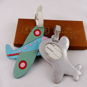Plane Promotion Gift Travel Leather ID Name Luggage Tag (B1005)