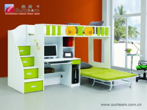 China Sunteam Multi Function Bunk Bed For Children With Computer Desk China Home Furniture Bunk Bed Mdf Absorbing Pvc