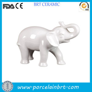Custom Blank Ceramic White Elephant Statues pictures & photos