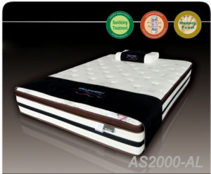 Pocket Memory Foam Spring Mattress for Home or Hotel Bedroom Furniture (AS-2000)