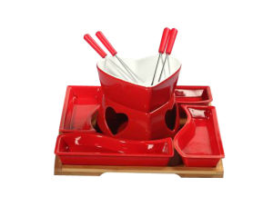 Red Color Mini Hot Pot Set