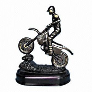 Polyresin Cycling Figurine, Motorcycle Trophy (NW1325H)