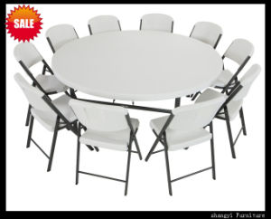 Elegant 6 Foot Round Table Folding Table Chair Set (SY-183ZY) pictures & photos