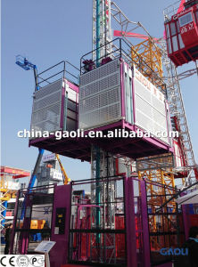 6.4 Tons Big Size Construction Hoist Sc 320/320 with CE&GOST Certificated pictures & photos