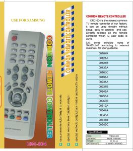 High Quality Universal Remote Control (URC-4) pictures & photos