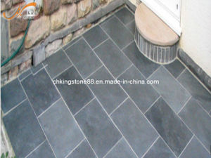Large Quantity Natural Black Slate Stone Floor Tiles
