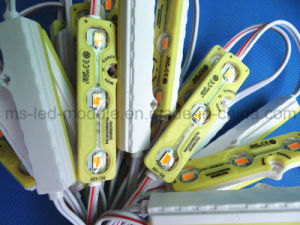 New Injection LED Module Waterproof 5730 LED Module with Lens Yellow pictures & photos