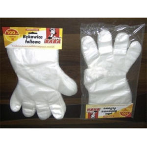 Food Grade Plastic PE Gloves with Paper Card